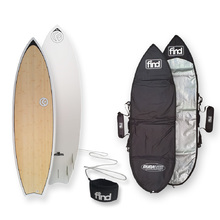 FIND™ Speedsta Ecoflex Bamboo Surfboard + Cover + Leash Package