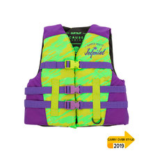 JetPilot The Cause F/E Kids Nylon PFD Vest - Lime/Purple