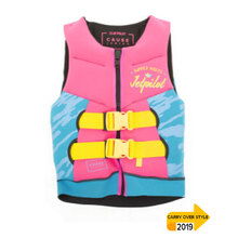 JetPilot The Cause Front Entry Kids Neo Vest - Pink