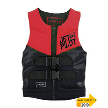 JetPilot The Cause Front Entry Kids Neo Vest Level 50 - Red