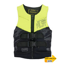 JetPilot The Cause Front Entry Kids Neo Vest - Yellow
