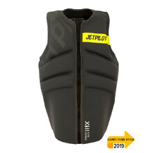 JetPilot X1 Kite Board Segmented Front Entry Neo Vest - Charcoal
