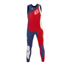JetPilot Matrix Men's Pro Race Long Johns - Red/Blue