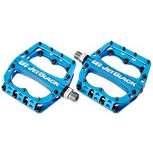JB Superlight MTB Pedals Low Profile - Blue Sealed Bearings Cromo Axle