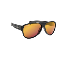 JetPilot Section Sunnies - Matte Black/Red/Mirror - Osfa