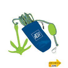 JetPilot Complete Folding Anchor System - Blue/Lime