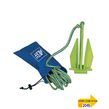 JetPilot Lightweight Fluke Anchor - Blue/Lime