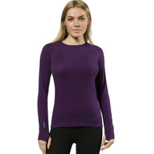 XTM Adult Female Thermal Tops Merino Ladies Top 230GSM Blackberry