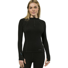 XTM Adult Female Thermal Tops Merino Ladies Zipneck 230GSM Black