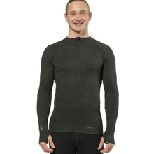 XTM Adult Male Thermal Tops Merino Mens Zipneck 230GSM Dark Grey