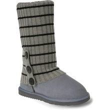 Ozwear Ugg Cardy Socks - Grey/Black Thin Stripe