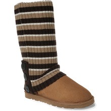 Ozwear Ugg Cardy Socks - Chestnut/Chocolate/Cream Stripe