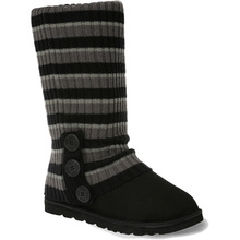 Ozwear Ugg Cardy Socks - Black/Charcoal/Grey Stripe
