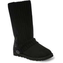 Ozwear Ugg Cardy Socks - Black/Grey Thick Stripe