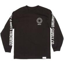 Diamond Skateboard Long Sleeve Tee Dtc Black