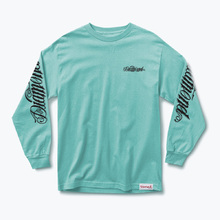 Diamond Skateboard Long Sleeve Tee Giant Script Blue