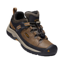 Keen Targhee Low Waterproof Youth - Dark Earth Golden Brown