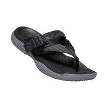 Keen Solr Toe Post Womens Shoes - Black Steel Grey