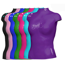 Crystal Ladies Lycra Rash Cap Sleeve Shirt