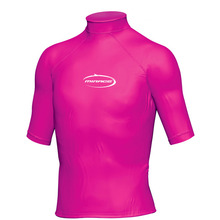 Mirage Junior Lycra Rash Short Sleeve Shirt Hot Pink