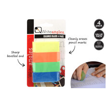 4 Pieces Eraser Colored