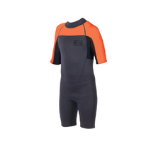 Ocean & Earth Boys Back Zip Free-Flex Spring Suit - 2mm - Orange Charcoal