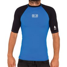 Ocean & Earth Mens Flame Thermo Skin Short Sleeves - Blue