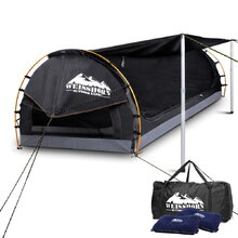 Double Size Dome Canvas Tent - Dark Grey