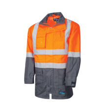Tru Workwear Rain Jacket With Tru Tape - Orange Navy