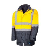 Tru Workwear 4 In 1 Rain Jacket - Yellow Navy