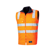 Tru Workwear 6 In 1 Rain Jacket Combo With Tru Reflective Tape - Orange Navy