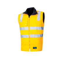 Tru Workwear 6 In 1 Rain Jacket Combo With Tru Reflective Tape - Yellow Navy