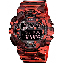Casio G-Shock Camo Series Red GD120CM-4D