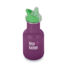 Klean Kanteen 12oz Water Bottle Classic Kid Sippy Cap Winter Plum