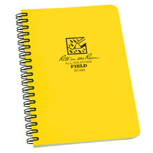 Rite in the Rain Side Spiral Polydura Notebook Field - Yellow - 4.375 x 7.25