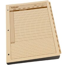 Rite in the Rain Maxi Daily Planner Refill With 3 Hole Punch 1 Year - Tan - 8.5 X 11
